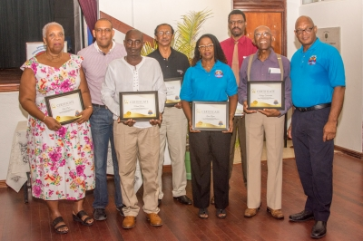 Stalwart Awardees with Certificates of Appreciation